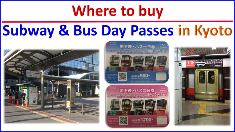 where to buy subway & bus pass in kyoto   Kyoto Bus & Train